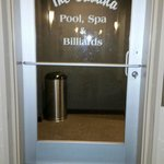 entrance to the pool and activity room on the 5th floor