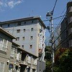 Hotel view from Nezu street