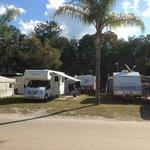 Van sites at the park