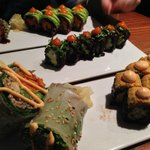 From back to front: Pickle Me, La Fiesta, Spicy Mang rolls and a Nutty Buddy wrap