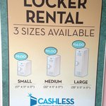 Atlantis locker rental price ran up compare to previous reviewer's posted.