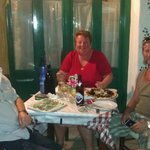 Two Brits and a German enjoy a great meal