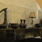 Ceramics on a fireplace