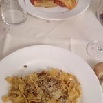 Pasta: Aubergine ravioli, Tagliatelli al Ragu