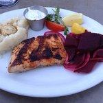 Blackened Salmon with mashed potatoes  Wonderful