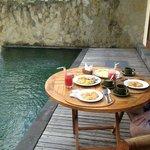 Breakfast serve to villa