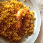 arroz con langostino tigre