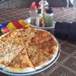 Pizza amb 4 formatges!! Molt bona!!!