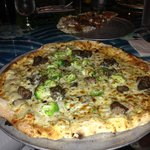 Great Flatbread (Pizza) of the Day, with beef and broccoli!!