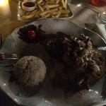 Mustard chicken and mushroom.  Looks a bit dark but tasted Devine