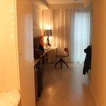 corridor-like bedroom