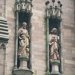 The statues on the facade of Trinity church