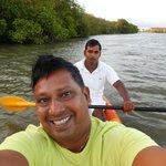 kayaking along the lagoon