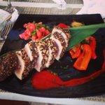 Black pepper crusted Tuna. Very good