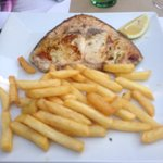 Swordfish and chips very good