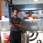 Introducing Nik the TIP TOP owner/chef with his assistant Spiros the waiter.