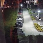 View from room big car park
