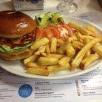 BBQ chicken burger, very nice!
