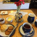 Welcoming tea with Margaret's delicious scones - it does not get more British than this!