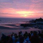 Sunrise over Tenby Ironman 2014