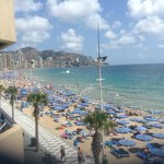 The Levante Beach from our balcony