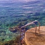 Steps into the sea