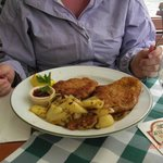 The plate of Schnitzel