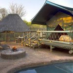 Tent with lapa and braai area