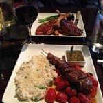 Beef tenderloin skewer and Machu Picchu pork chops