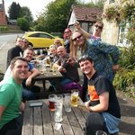 The Camping Crew at the Tavern enjoying the sunshine and lovely atmosphere