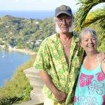 Chris and Yvonne at Carpe Diem Villa, Castara