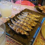 Grilled sardines - divine!