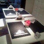 Mesas finamente decoradas