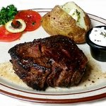 Filet Mignon with baked potato and salad or soup.