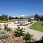 pool looking towards Andes
