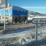 Fachada nevada de Mesón Sidrería La Casona