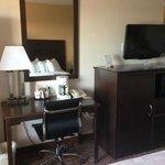 new tv, office desk