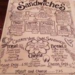 Menu - sandwich page