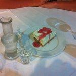 Complimentary desert with raki