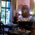 la stanza della colazione e la padrona di casa