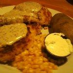 Pork Tenderloin Patty dinner