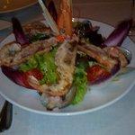 salade langoustines palourdes
