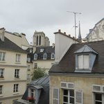 Can see Notre Dame Tower and spire from room