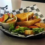 The Whiting Sandwich lunch special with veggies