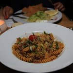 Special of the day - penne with braised duck