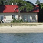 View of Cottage 1 from the beach
