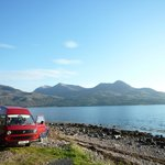 Campervan Rose at a Loch