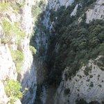 Une vue partielle des Gorges de Galamus.