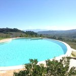 Pool view towards Orvieto