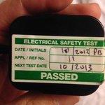 PAT testing? visit date 15/09/2014